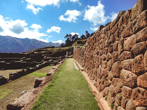 Mountains and Chinchero along the Sacred Valley
