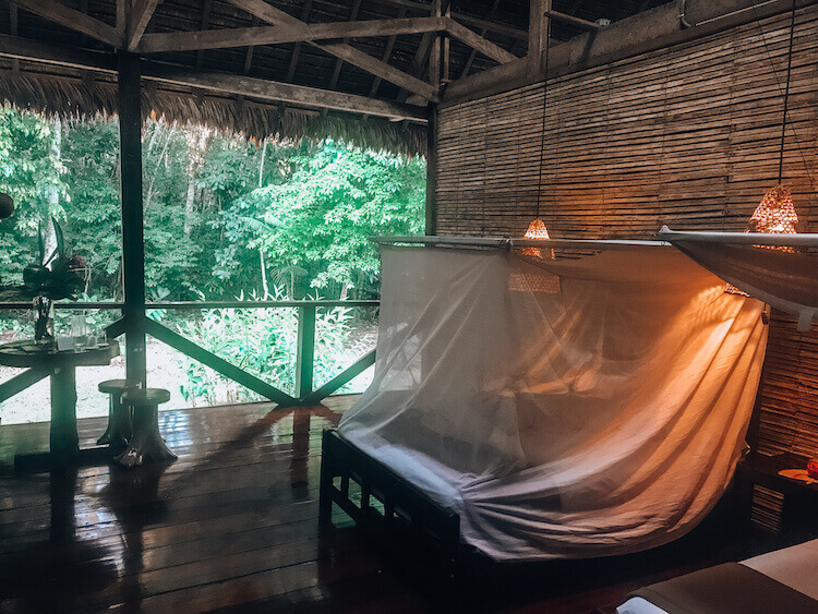 Refugio Amazonas Lodge room - Peru itinerary