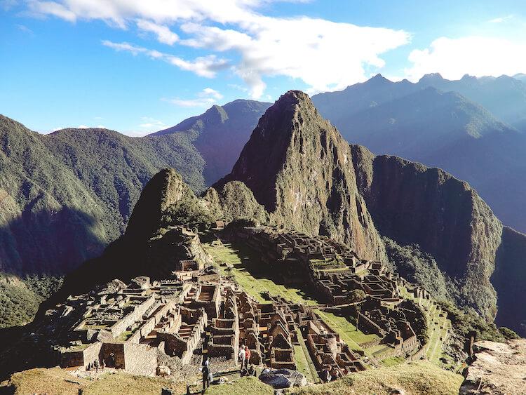 Beautiful day overlooking Machu Picchu, Peru
