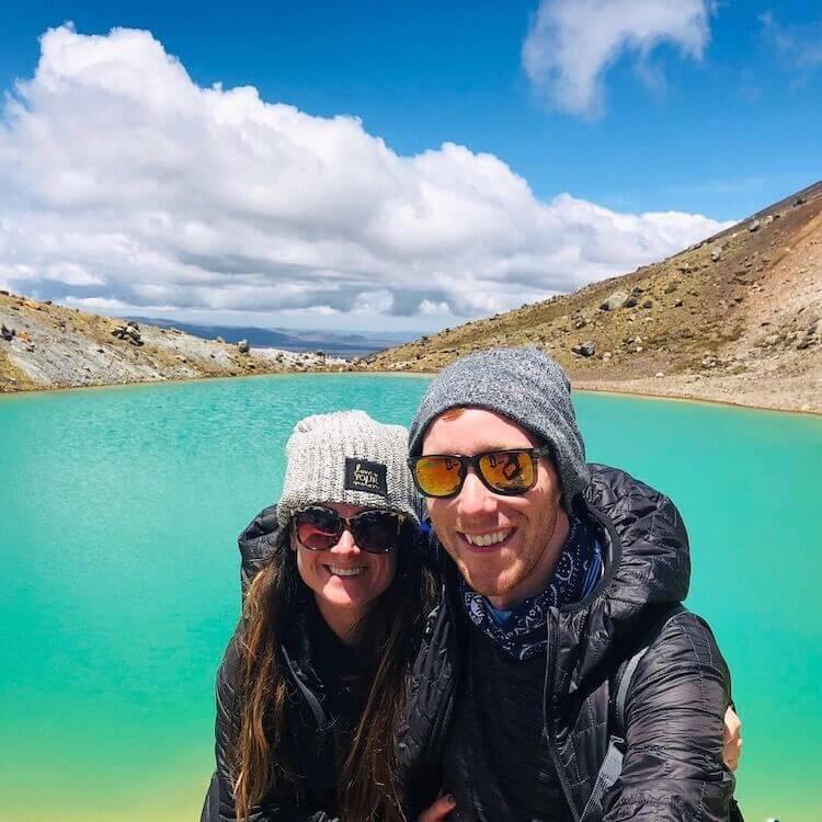 Christine and Steve hiking in New Zealand