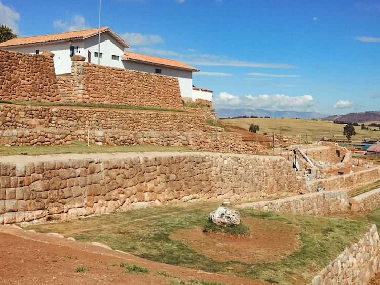 Incan ruins in Chinchero, Sacred Valley