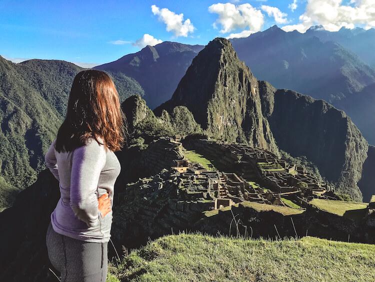 Kat admiring Machu Picchu