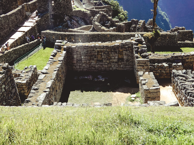 Looking into a house at Machu Picchu