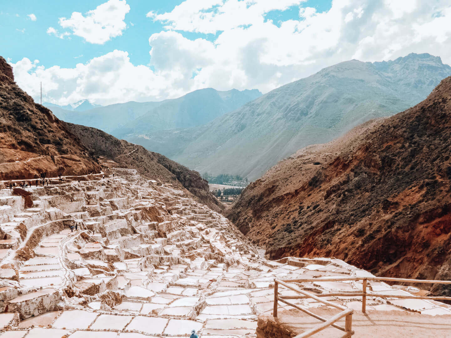 Maras Salt Mines at varying levels in Sacred Valley, Peru