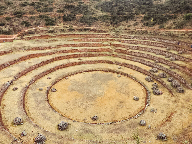 Moray agricultural ruins in the Sacred Valley, Peru