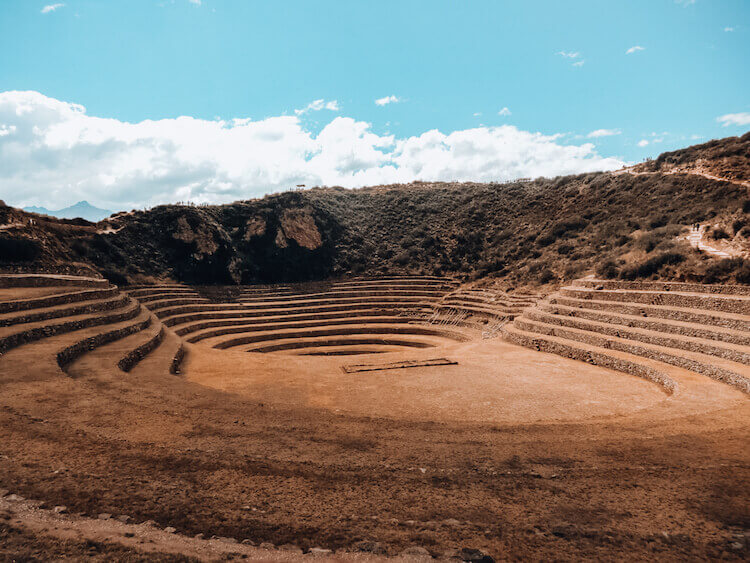 Moray ruins in the Sacred Valley