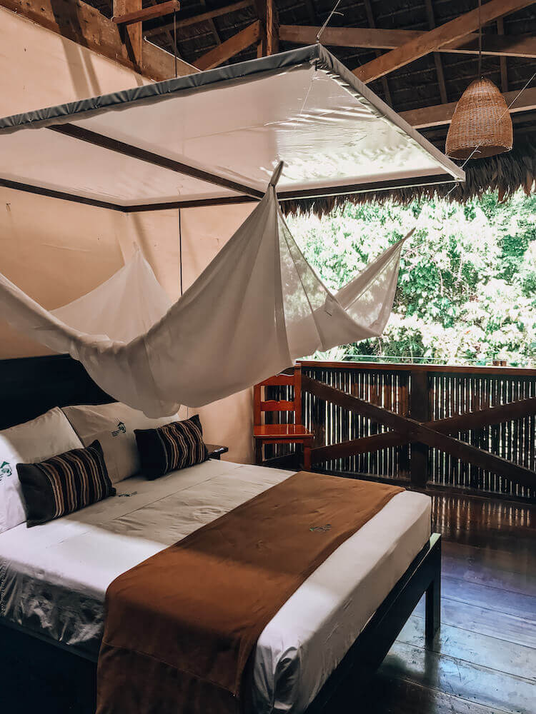 Our room with three walls at the Tambopata Research Center