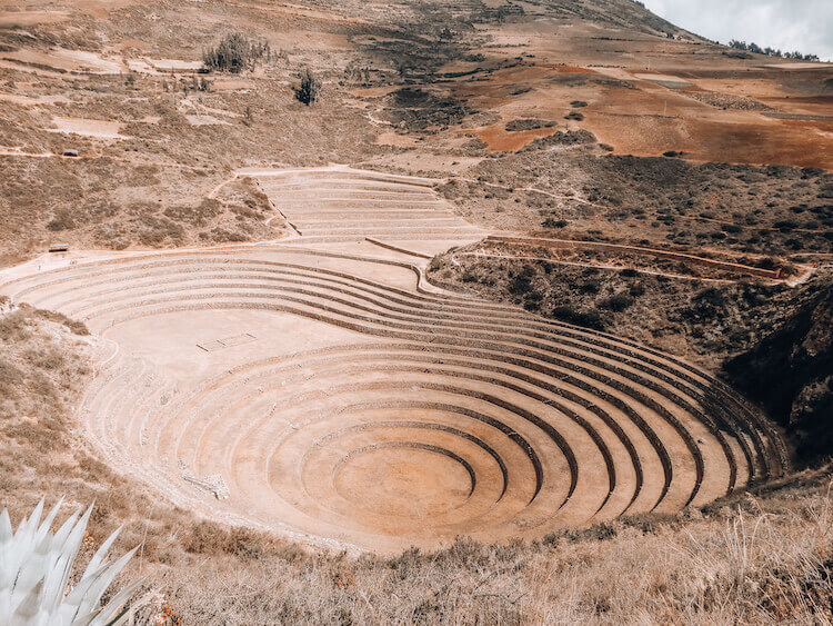 Overlooking the Moray agricultural ruins in the Sacred Valley