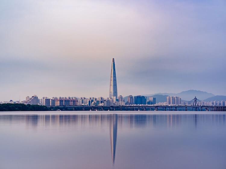Skyline of Seoul, Korea