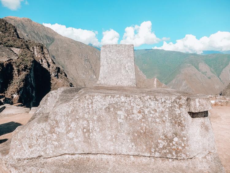 Sundial at Machu Picchu