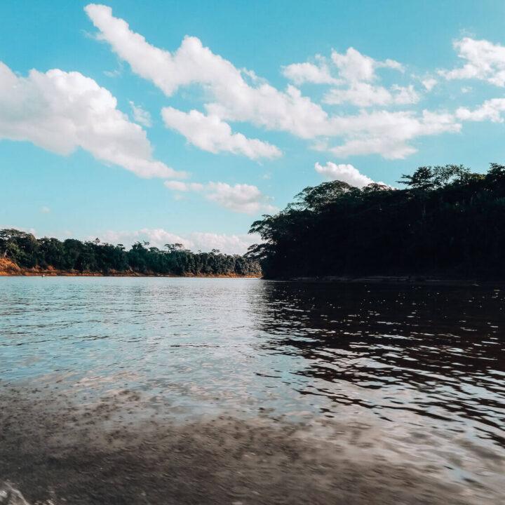 Tambopata River in the Tambopata National Reserve