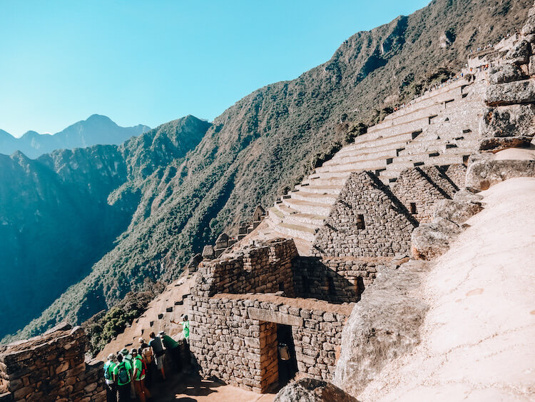 Terraces and houses at Machu Picchu