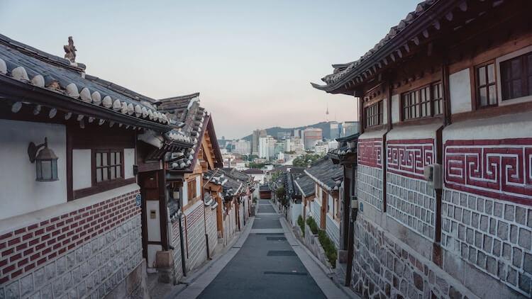 Traditional neighborhood Seoul, Korea