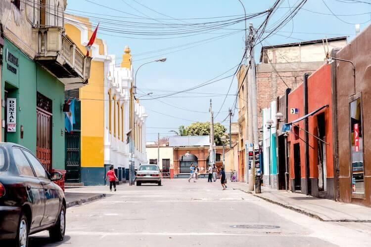 Barranco neighborhood in Peru