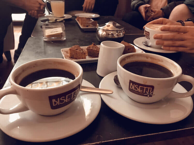 Bisetti coffee- first stop of food tour in Lima