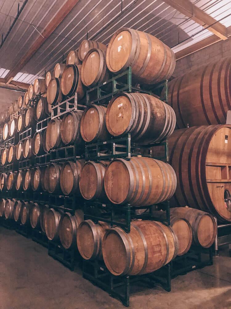 Firestone Winery barrels