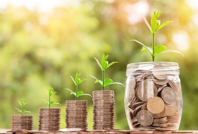 Growing money and saving in jars