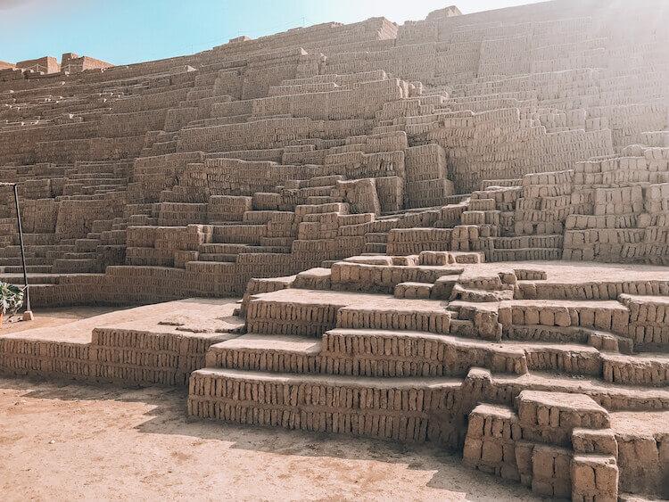 Huaca Pucllana ruins in Lima, Peru