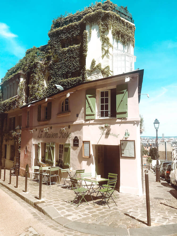 La Maison Rose in the Montmartre neighborhood