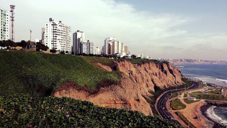 Lima, Peru cliffs and beaches