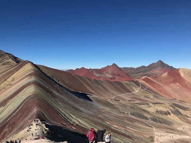 Rainbow Mountain and the Red Valley ahead