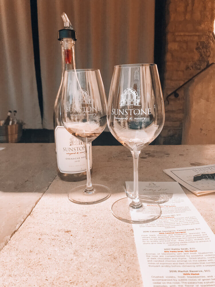 Sunstone wine tasting