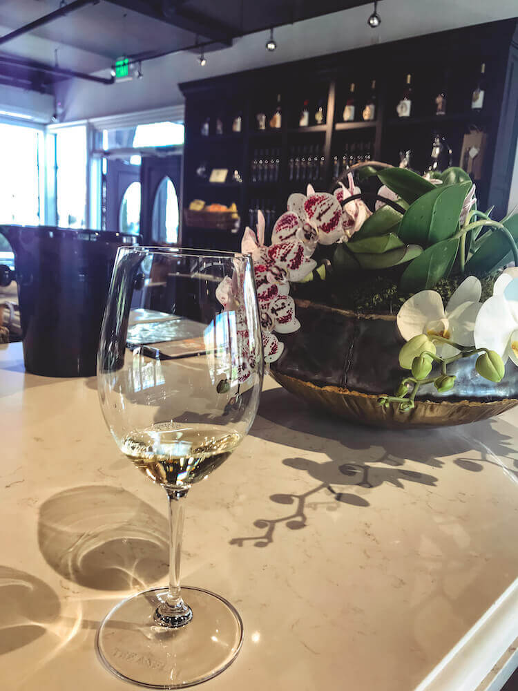 White wine tasting at Sanger Family of Wines