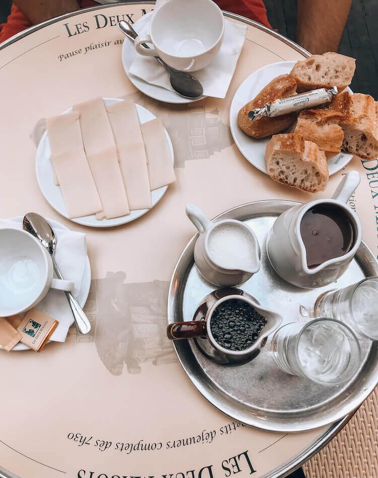 Breakfast at Les Deux Magots