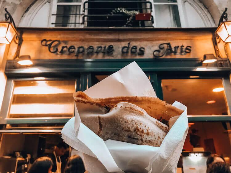 Creperies des Arts with crepe : Bucket List Paris