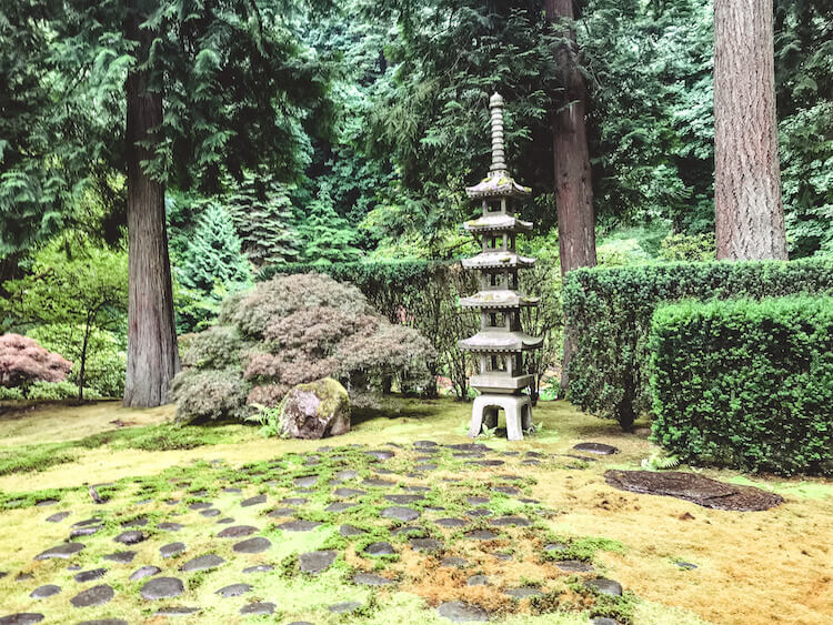 Dreamy greens at the Japanese Garden in Portland