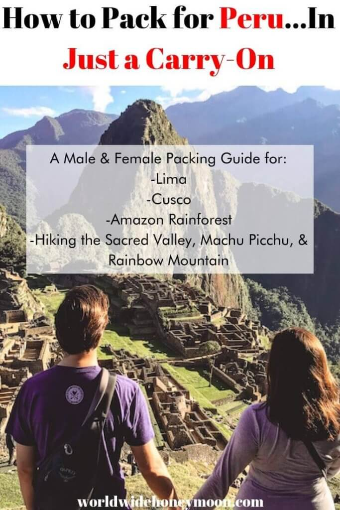 How to Pack for Peru in Just a Carry On