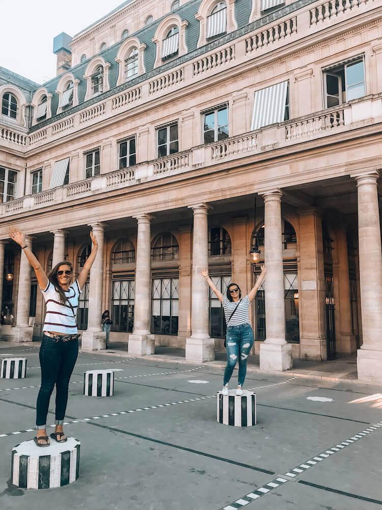 Kat and Alice at Palais Royal