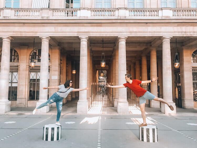 Kat and Chris at Palais Royal