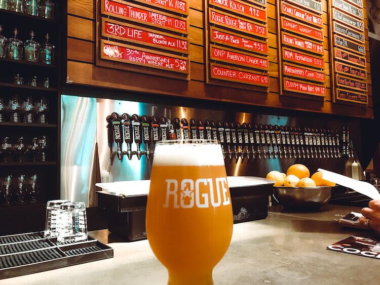 Rogue brewery in Portland, Oregon