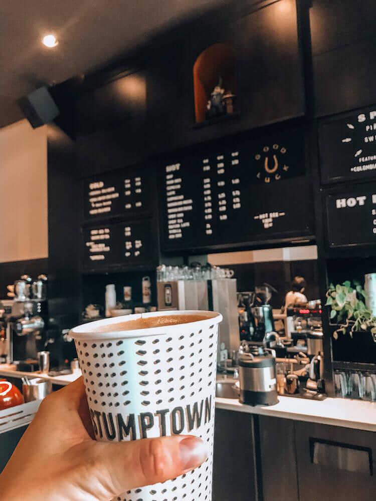 Stumptown coffee in Portland, Oregon