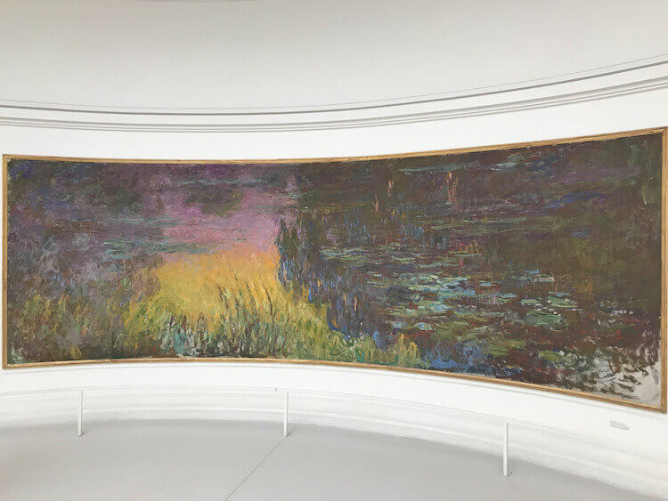 Waterlilly paintings at Museum L'Orangerie