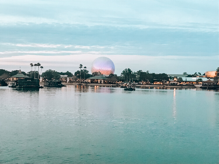 Epcot across the lake at Disney World