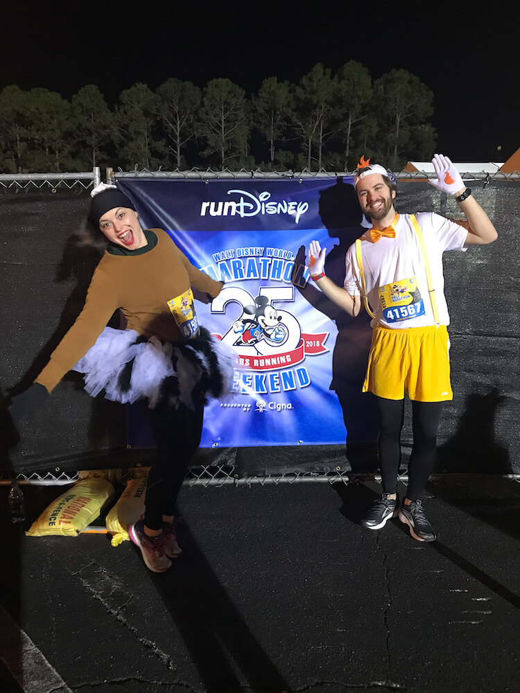 Kat & Chris before the Run Disney Marathon