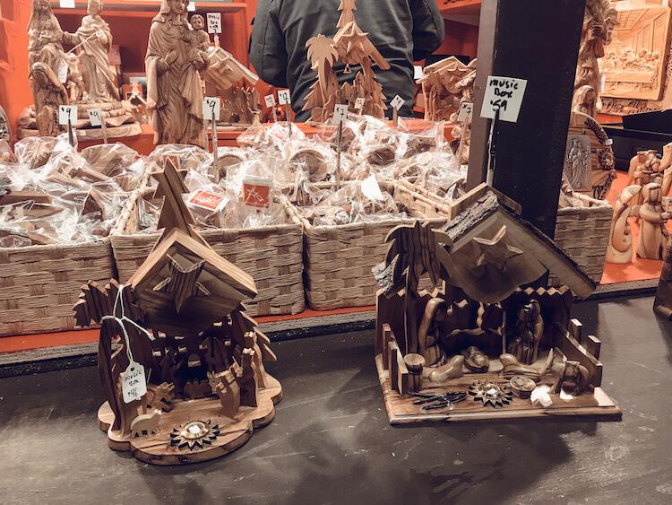 Nativity Carvings at Christkindlmarket Milwaukee