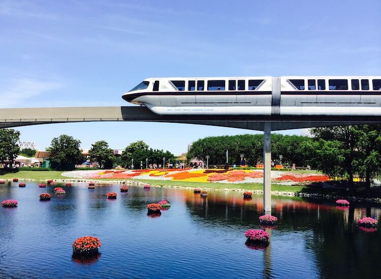 The Monorail at Disney World