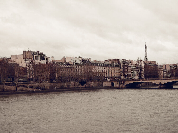 A cold overcast day in January in Paris