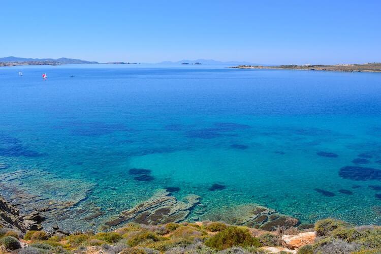 Clear Mediterranean Sea from Paros