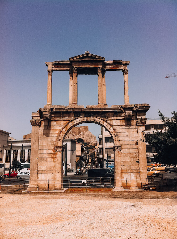Hadrian's Gate in Athens, Greece