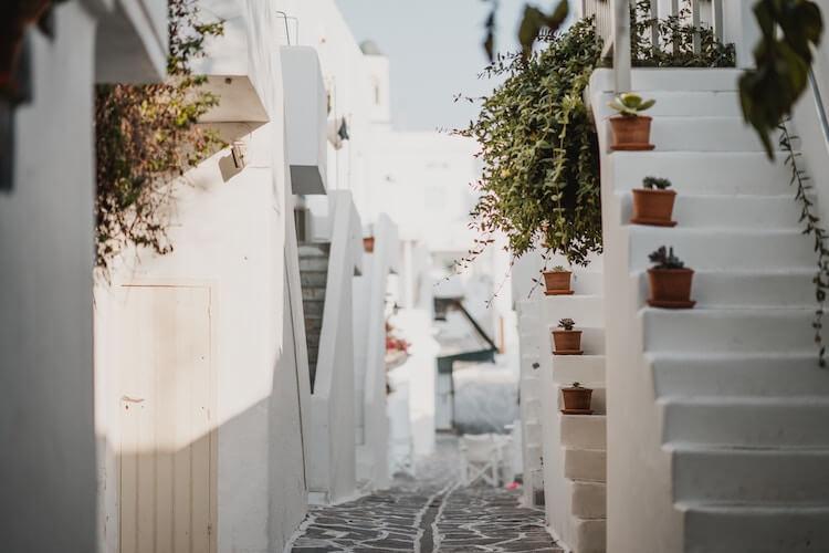 Hidden streets in Paros, Greece