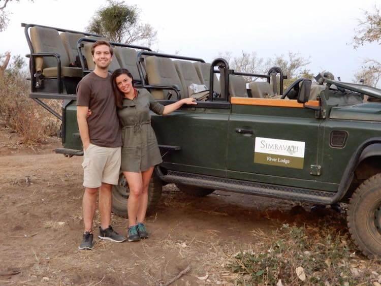 Kat and Chris on Safari