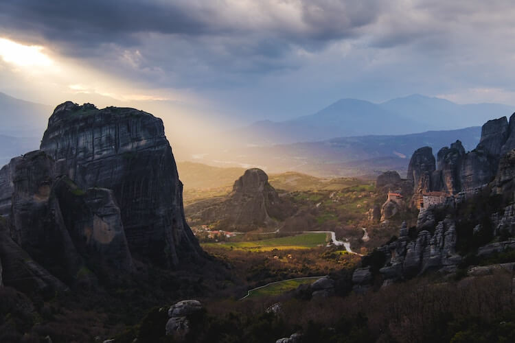 Meteora mountains in Greece