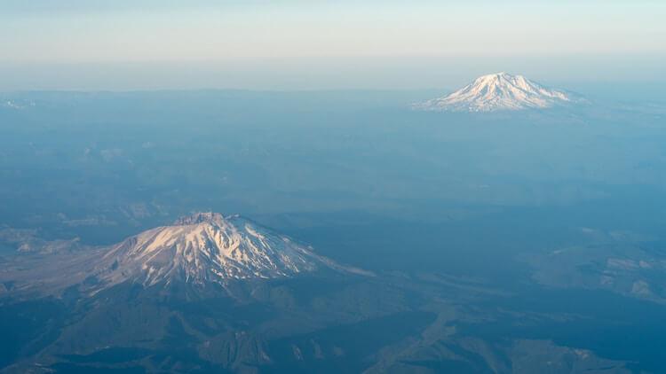 Mt Hood and Mt St Helens outside of Portland, Oregon