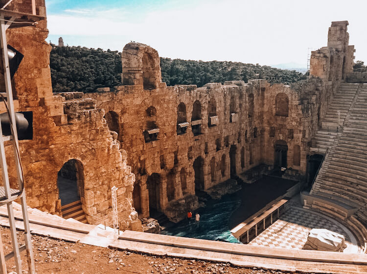 Odean of Herodes Atticus near the Acropolis in Athens, Greece