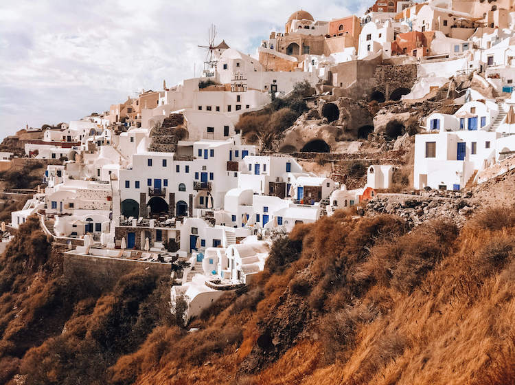 Oia during the day in Santorini, Greece copy