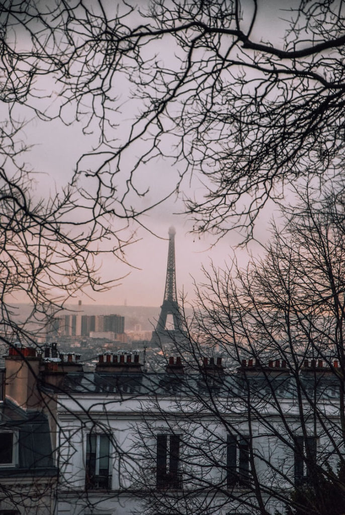 Paris on a chilly, winter day